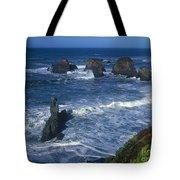 Sea Stacks Central Coast Near Rockport California Tote Bag