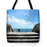 Sea Stairs Tote Bag