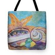 Sea Star-abalone-snail Shell Tote Bag
