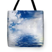Sea Sun And Clouds Tote Bag