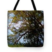 Sea Through Trees Tote Bag