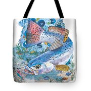 Sea Trout Wreck Tote Bag by Carey Chen