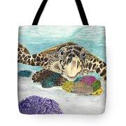Sea Turtle Hello Tote Bag