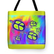 Sea Turtles Swimming  Tote Bag
