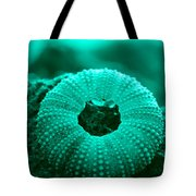 Sea Urshin Blue Tote Bag by Riad Belhimer