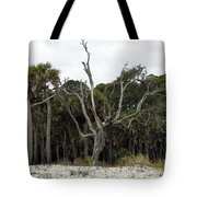 Sea Washed Oat Tree Tote Bag