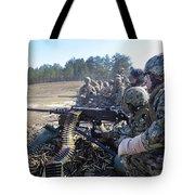 Seabees Fire The M2 .50-caliber Machine Tote Bag