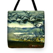 Seabirds Rising From The Marsh 2-27-15  Tote Bag