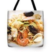 Seafood Pasta Dish Tote Bag