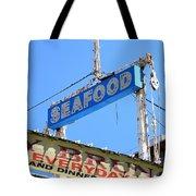 Seafood Sign Tote Bag
