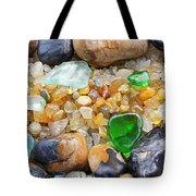 Seaglass Art Prints Coastal Beach Sea Glass Tote Bag by Baslee Troutman
