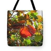 Seagrape Leaves Tote Bag