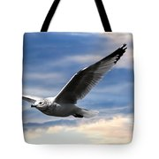 Seagull And Clock Tower Tote Bag by Bob Orsillo