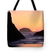 Seagull And Sunset Tote Bag