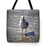 Seagull At Low Tide Tote Bag