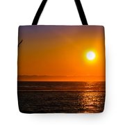 Seagull At Sunset Tote Bag