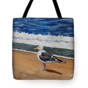 Seagull At The Seashore Tote Bag