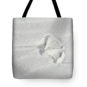 Seagull Footprint On The Sand Tote Bag