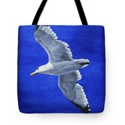 Seagull In Flight Tote Bag by Crista Forest