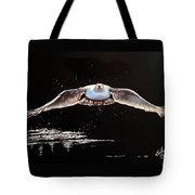 Seagull In The Moonlight Tote Bag