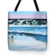Seagull In The Sand Tote Bag