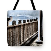 Seagull On The Boardwalk Tote Bag