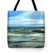 Seagulls At Play Tote Bag