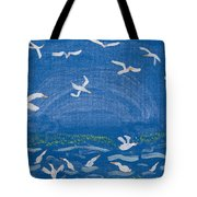 Seagulls Tote Bag by Melissa Dawn