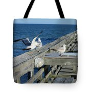 Seagulls Tote Bag by Nelson Watkins