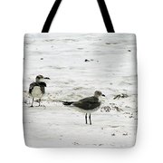 Seagulls On The Beach Tote Bag