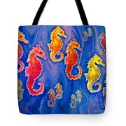 Seahorse March Tote Bag