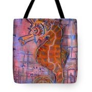Seahorse Sandy Tote Bag