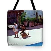 Seal And Trainer Tote Bag