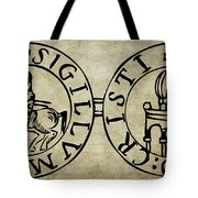 Seal Of The Knights Templar Tote Bag