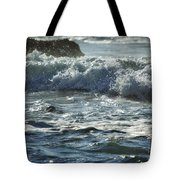 Seal Surfing Waves Tote Bag