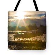 Seaplane Sunset Tote Bag