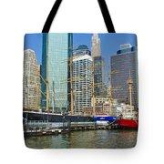 Seaport Harbor Nyc Tote Bag