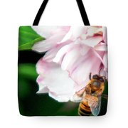 Searching Pink Flower Tote Bag