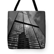 Sears Willis Tower Black And White 02 Tote Bag