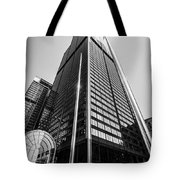 Sears Willis Tower Chicago Black And White Picture Tote Bag