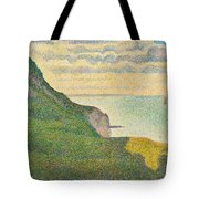 Seascape At Port En Bessin Normandy Tote Bag by Georges Seurat