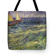 Seascape At Saintes-maries 1888 Tote Bag