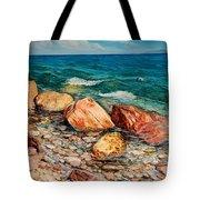 Seascape - Red Rocks  Tote Bag
