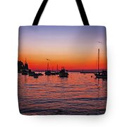 Seascape Silhouette Tote Bag