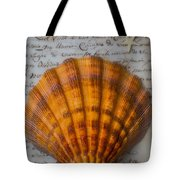 Seashell And Words Tote Bag