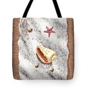 Seashell Pearls And Water Drops Collection Tote Bag