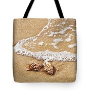 Seashells And Lace Tote Bag