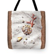 Seashells Coral Pearls And Water  Drops Tote Bag