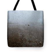 Seashells On Foggy Beach Tote Bag