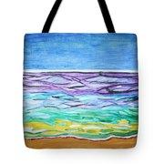Seashore Blue Sky Tote Bag